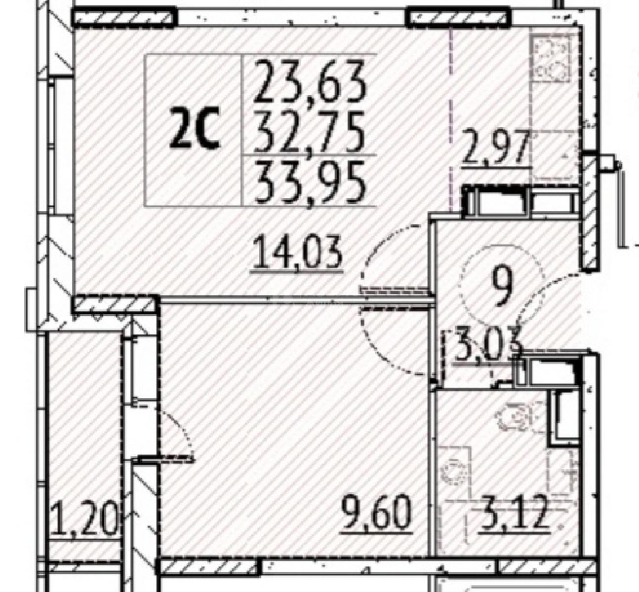 Фото №4 - 2-комнатная квартира, Москва, село Остафьево, Остафьево улица 14 корпус 3