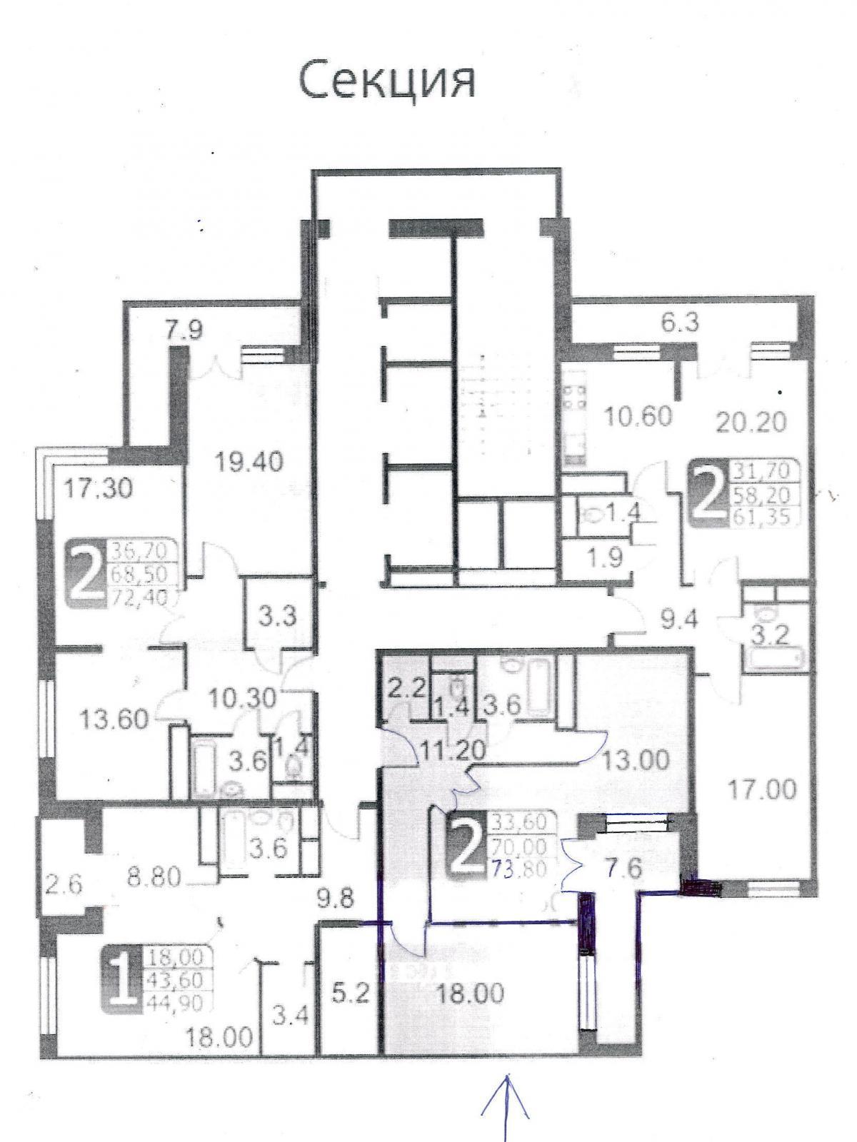 Фото №2 - 3-комнатная квартира, Москва, Ягодная улица 8 корпус 1, метро Царицыно