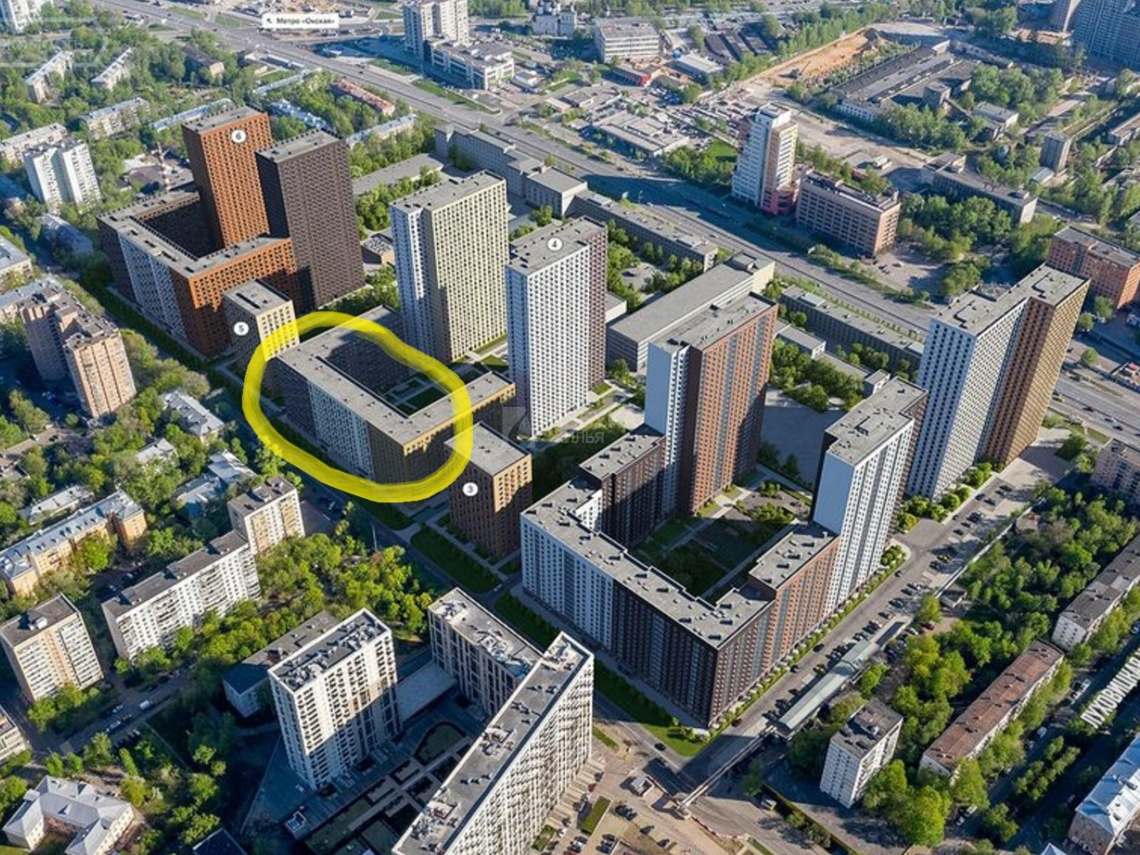 Фото №1 - 2-комнатная квартира, Москва, Институтская 2-я улица 6 корпус 4, метро Окская