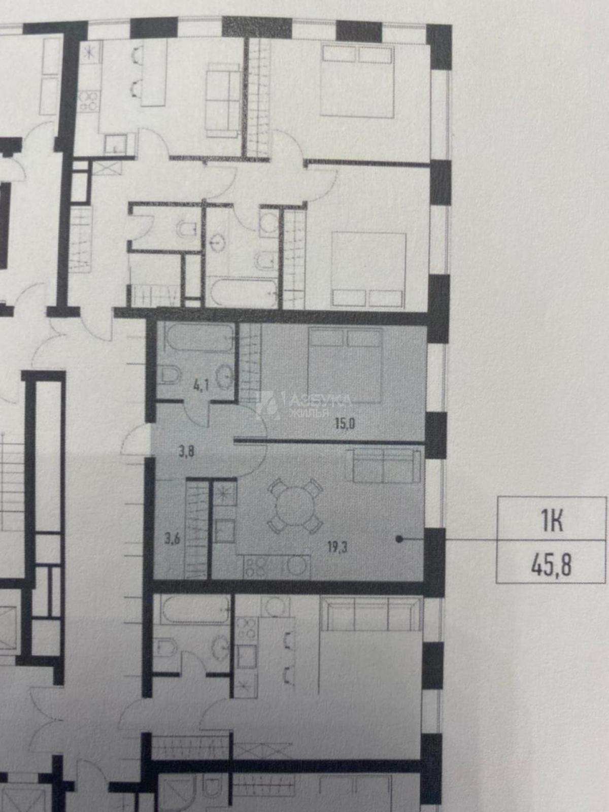 Фото №3 - 1-комнатная квартира, Москва, Грайвороновский 2-й проезд корпус 22, метро Стахановская