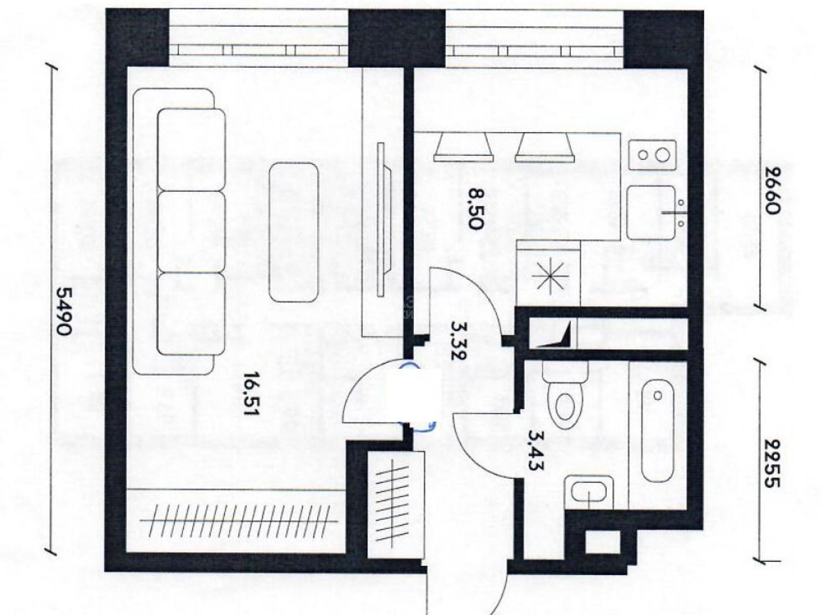 Фото №1 - 1-комнатная квартира, Москва, Донецкая улица 34 корпус 3, метро Марьино
