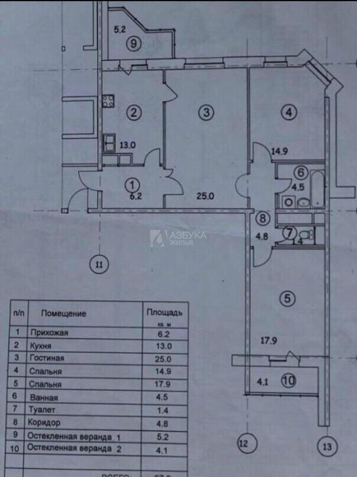Фото №3 - 3-комнатная квартира, Одинцово, Можайское шоссе 80 корпус А, метро Кунцевская