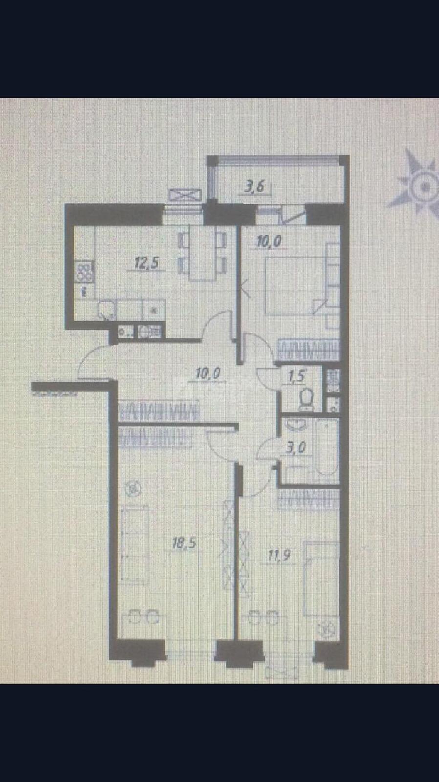Фото №3 - 3-комнатная квартира, Николо-Урюпино,  улица 15, метро Мякинино