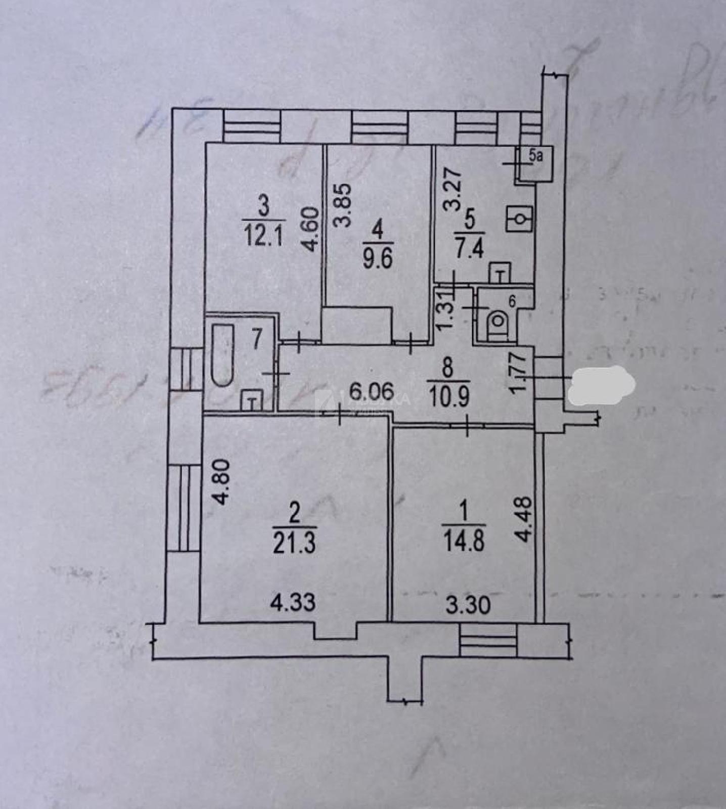 Фото №7 - 4-комнатная квартира, Москва, Ленинградский проспект 14 корпус 1, метро Белорусская